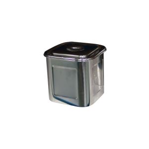 不锈钢四方储物桶(无耳)(180×180×180×0.7mm)