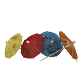 COLOURED PAPER PARASOL STICK